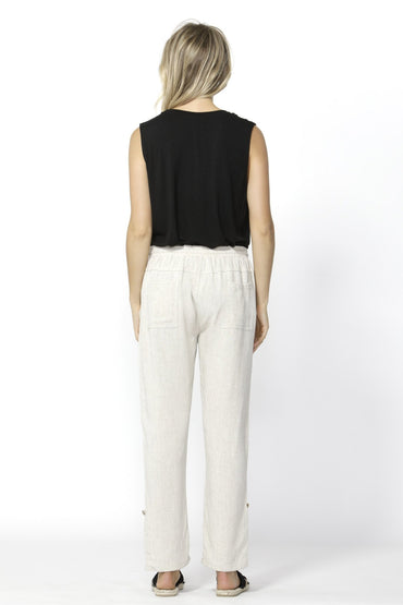 Betty Basics Watson Linen Pant in Natural - Hey Sara