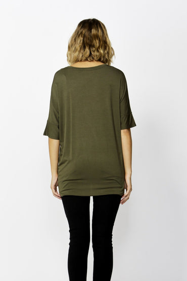 Betty Basics Wellington Tee in Olive Size 8 ONLY - Hey Sara