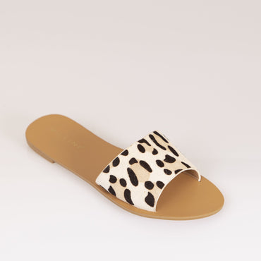 Billini Maliah Slide in Snow Leopard Size 8 or 9 Only - Hey Sara