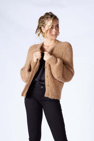 Fate + Becker Ashbury Cardigan in Mocha - Hey Sara