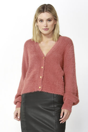 Fate + Becker Ashbury Cardigan in Rose Size 16 ONLY - Hey Sara