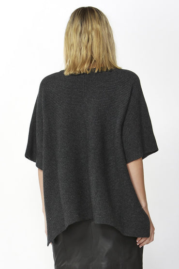 Fate + Becker Aveen Cropped Knit in Charcoal - Hey Sara