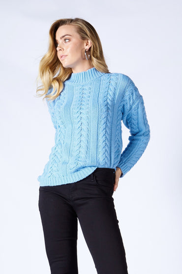 Fate + Becker Be With Me Jumper in Blue - Hey Sara