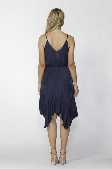 Fate + Becker Blooming Dress in Midnight Navy - Hey Sara