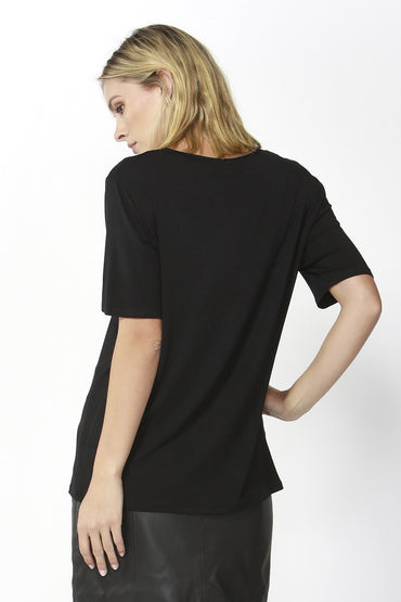 Fate + Becker Eden Tee in Black Magic - Hey Sara