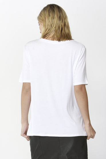 Fate + Becker Eden Tee in Pearl White - Hey Sara