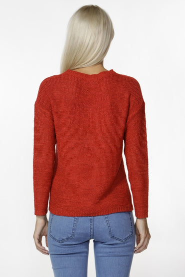 Fate + Becker Marleen Knit in Crimson Red - Hey Sara