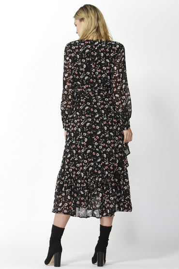 Fate + Becker Nolita Wrap Dress in Floral Print - Hey Sara