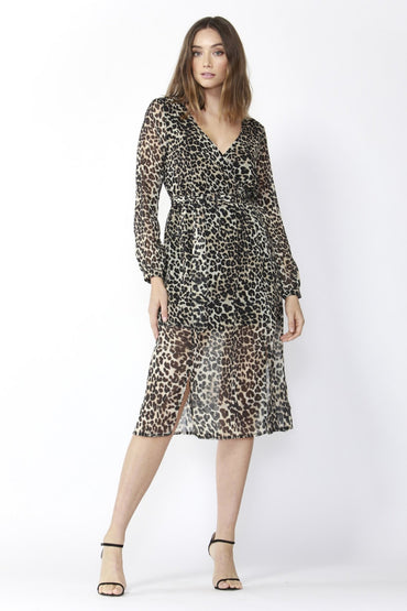 Fate + Becker On The Run Dress in Leopard Print - Hey Sara