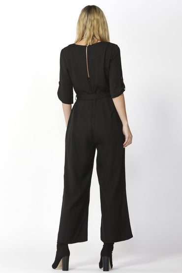 Fate + Becker San Marino Jumpsuit in Black - Hey Sara