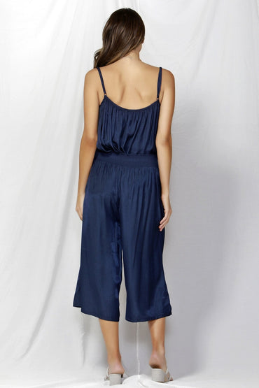 Fate + Becker So Me Shirred Waist Culottes in Navy SIZE XS OR L ONLY - Hey Sara
