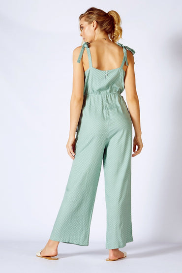Fate + Becker Surrender Jumpsuit in Sage - Hey Sara