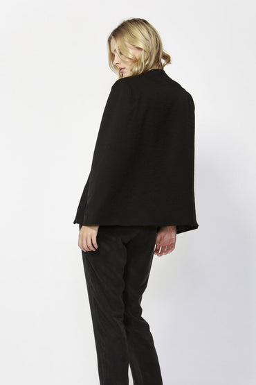 Fate + Becker Uptown Cape Blazer in Black - Hey Sara