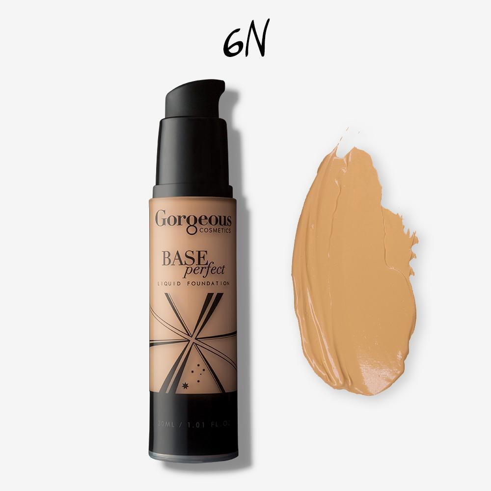 Gorgeous Base Perfect Liquid Foundation - 6N - Hey Sara