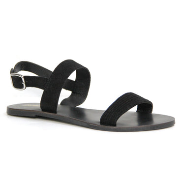 Just Because Bula Sandal in Black Leather - Hey Sara