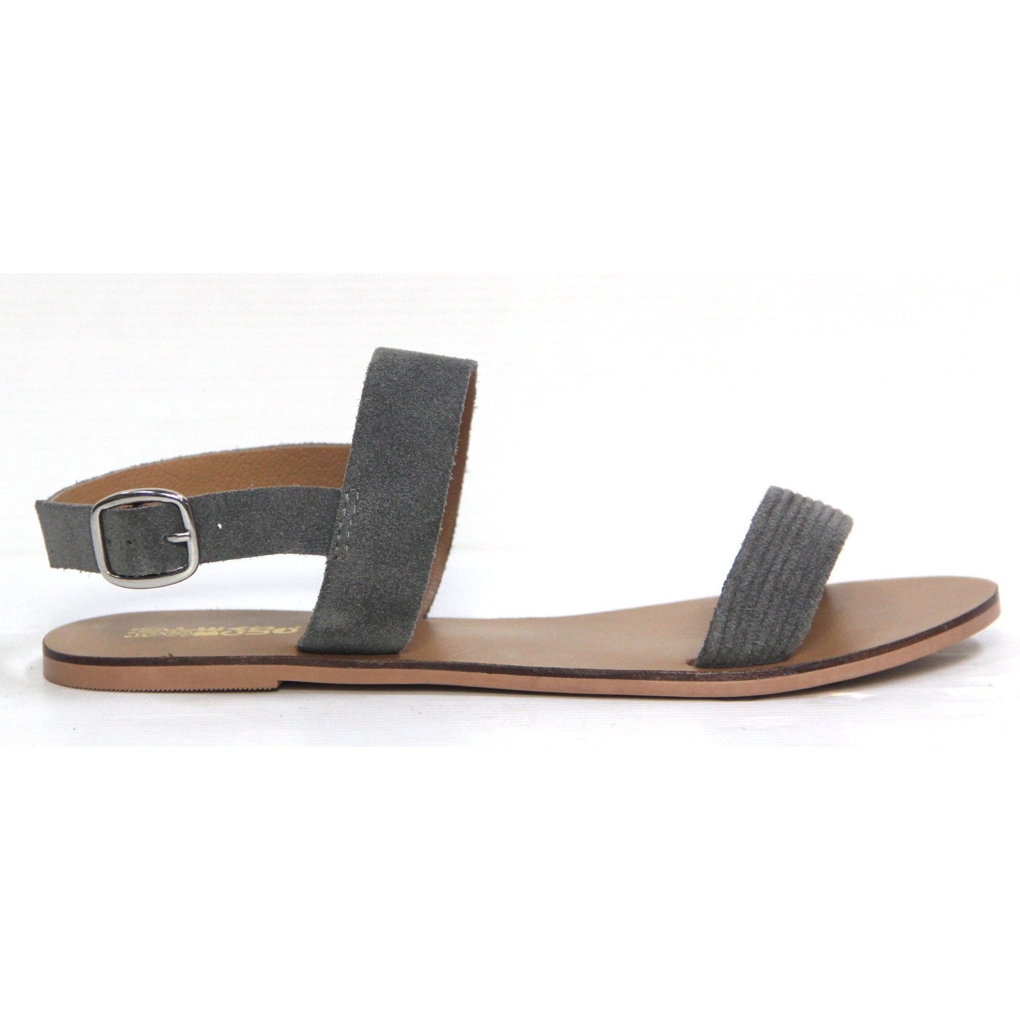 Just Because Bula Sandal in Denim Grey Leather - Hey Sara