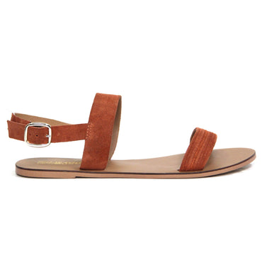 Just Because Bula Sandal in Terracotta Tan Leather - Hey Sara