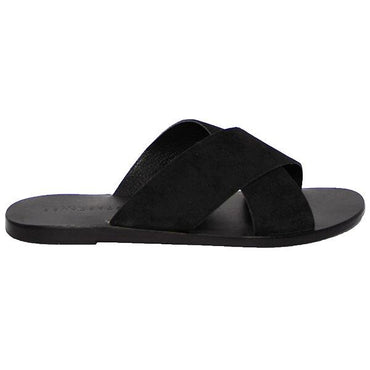 Just Because Colva Slide in Black Leather - Hey Sara
