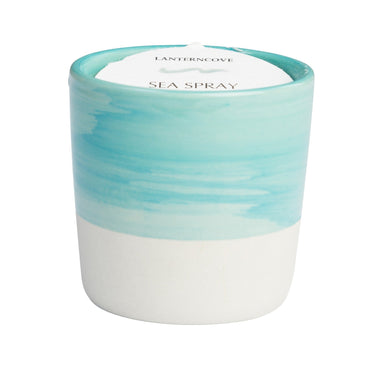Lantern Cove Brush Strokes Sea Spray 3oz Candle - Hey Sara