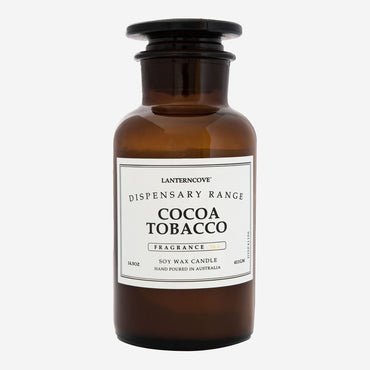 Lantern Cove Dispensary Cocoa Tobacco 14.5oz Candle - Hey Sara
