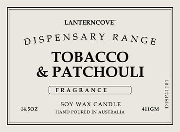 Lantern Cove Dispensary Tobacco and Patchouli 14.5oz Candle - Hey Sara