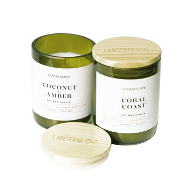 Lantern Cove Jade Coconut and Amber 9oz Soy Candle - Hey Sara