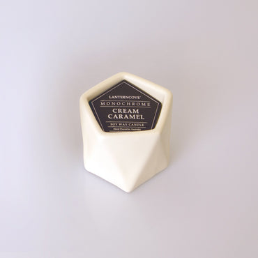 Lantern Cove Monochrome Cream Caramel 3oz Soy Candle - Hey Sara