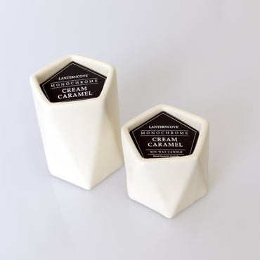 Lantern Cove Monochrome Cream Caramel 8oz Soy Candle - Hey Sara