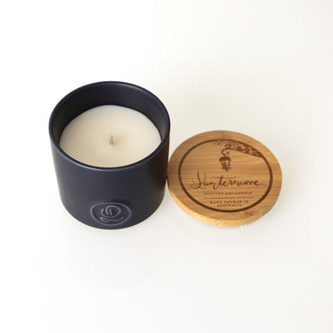 Lantern Cove Pastel Rustic Fig 8oz Candle - Hey Sara