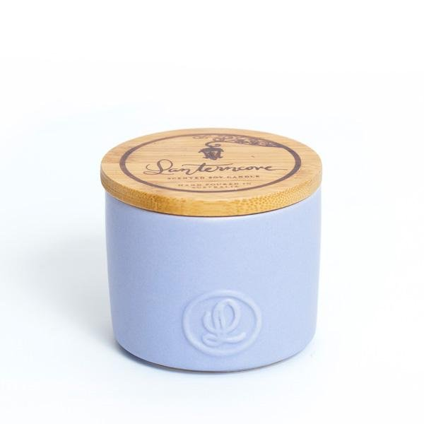 Lantern Cove Pastel Smoked Wood and Patchouli 8oz Candle - Hey Sara