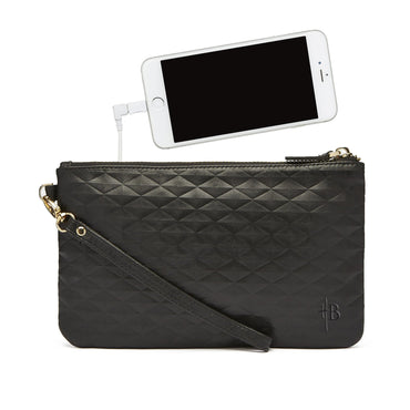 Mighty Purse Phone Charging Wristlet - Diamond Black - Hey Sara