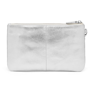 Mighty Purse Phone Charging Wristlet - Metallic Silver - Hey Sara