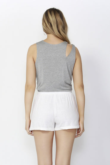 Sass Beach Babe Linen Shorts in White - Hey Sara