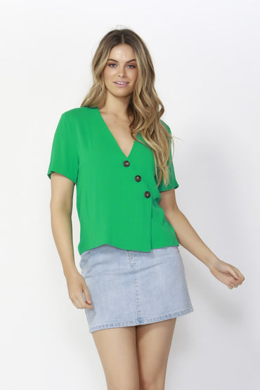 Sass Catching Rays Blouse in Palm Green - Hey Sara