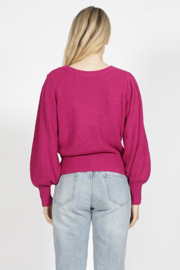 Sass Celia Knit in Magenta - Hey Sara
