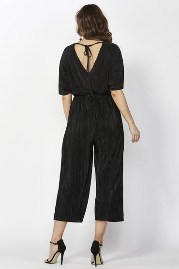 Sass Dazzling Pleated Jumpsuit in Black Sizes 10 or 12 Only - Hey Sara
