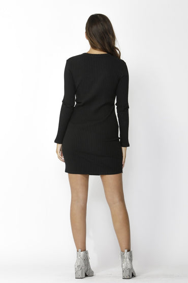 Sass Dream Chaser Button Dress in Black - Hey Sara