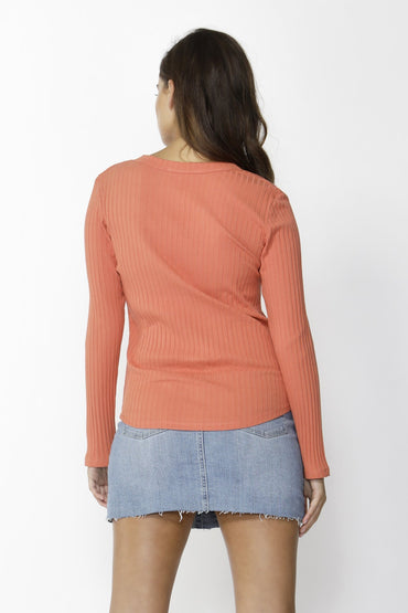 Sass Dream Chaser Button Top in Amber - Hey Sara