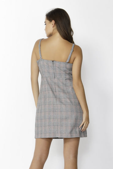 Sass Exploration Check Pinafore in Amber Check - Hey Sara