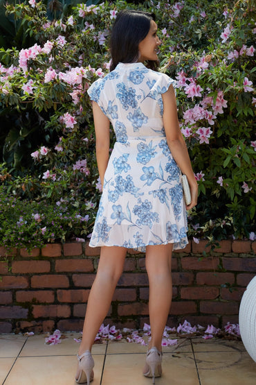 Sass Flemington Floral Ruffle Dress in Print Size 12 ONLY - Hey Sara