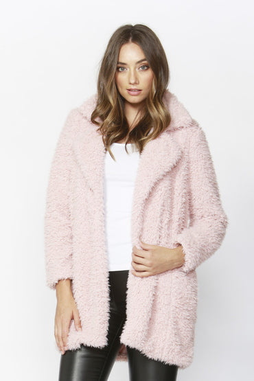 Sass Lolly Lover Coat in Pink - Hey Sara