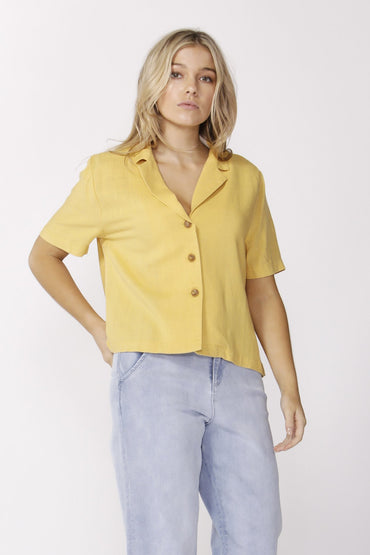Sass Paradising Buttoned Shirt in Sunflower - Hey Sara
