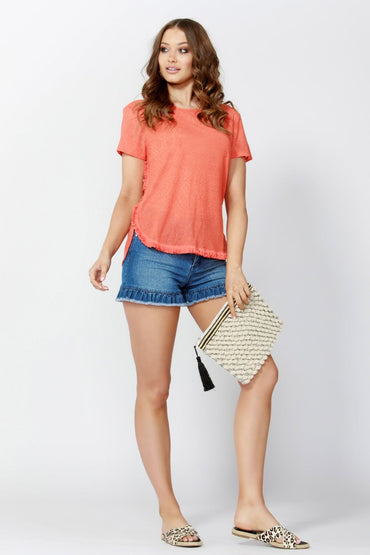 Sass Road Trip Tassel Tee in Persimmon - Hey Sara