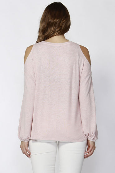 Sass Stela Bubble Sleeve Top in Petal Pink Size 6 or 8 Only - Hey Sara