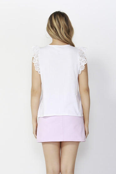 Sass Sweet Escape Lace Top in White - Hey Sara