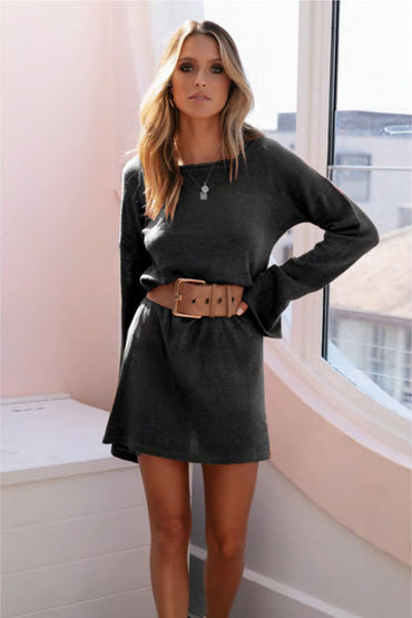 SNDYS Amber Knit Dress in Black Size L ONLY - Hey Sara
