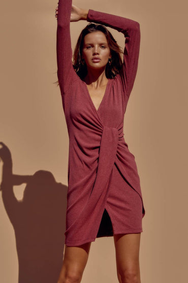 SNDYS Teddi Dress in Burgundy - Hey Sara