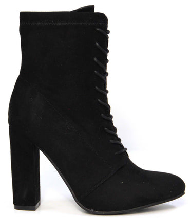 Therapy Aiken Lace Up Ankle Boot in Black Suede Size 6 or 9 only - Hey Sara