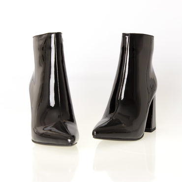 Therapy Alloy Mirror Ankle Boots in Black - Hey Sara
