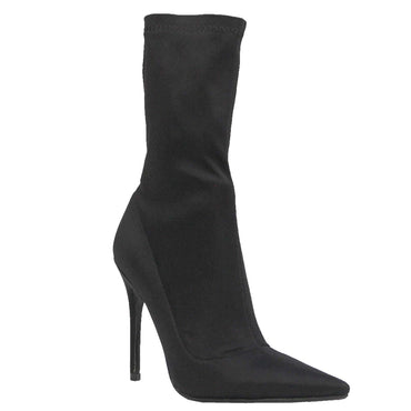 Therapy Sarita Stretch Lycra Stiletto Boots in Black - Hey Sara